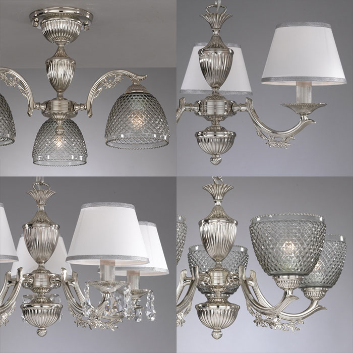 Новые светильники Reccagni Angelo в цвете никель